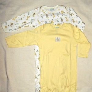 Pajamas - Vintage 2 carter's infant baby boy girl gown